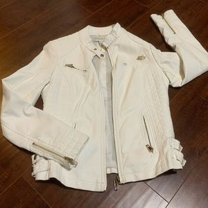 Faux Leather Jacket in white 🤍🤍🤍🤍